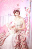 Romantic woman in a vintage dress Royalty Free Stock Photo