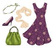 Romantic woman wardrobe. Royalty Free Stock Images