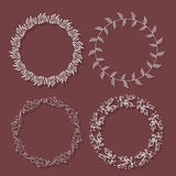 Romantic wreath with copyspace for your text Stock Photos