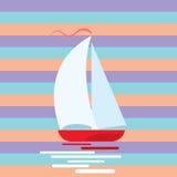 Romantic yacht background Stock Image