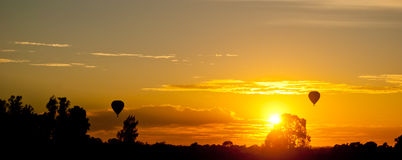 Romantic yellow sunset Royalty Free Stock Photos