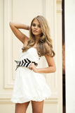 Romantic young blonde woman portrait Royalty Free Stock Images
