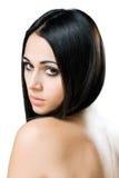 Romantic young brunette beauty. Stock Photos