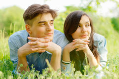 Romantic young couple Stock Images