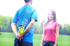 Romantic young couple Stock Photos