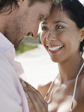 Romantic Young Couple On Beach Royalty Free Stock Photos