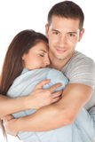 Closeup of young couple embraced Stock Image