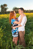 Romantic young couple enjoy a tender moment Royalty Free Stock Photos