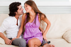 Romantic young couple enjoying their love Royalty Free Stock Images