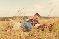 Romantic young couple in love Stock Photography