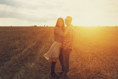 Romantic young couple in love Stock Photo