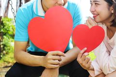 Romantic Young Couple In Love. Romantic young couple showing love and care ,valentines day Royalty Free Stock Photo