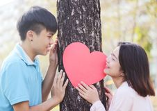 Romantic Young Couple In Love. Romantic young couple showing love and care ,valentines day Royalty Free Stock Images