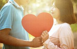 Romantic Young Couple In Love. Romantic young couple showing love and care ,valentines day,Vintage style Stock Photography