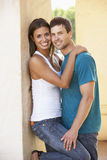 Romantic Young Couple Outside Building Stock Images