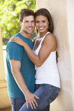 Romantic Young Couple Outside Building Royalty Free Stock Photo