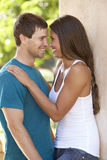 Romantic Young Couple Outside Building Stock Photography