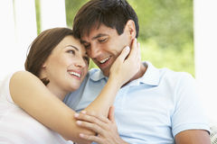 Romantic Young Couple Relaxing Outside Royalty Free Stock Image