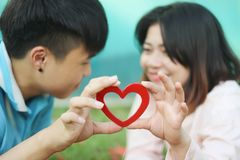Romantic Young Couple In Love. Romantic young couple showing love and care ,valentines day Stock Photo