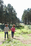 Romantic Young Couple Walking In Countryside royalty free stock photos