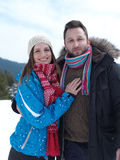 Romantic young couple on winter vacation Royalty Free Stock Photography