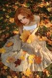 Romantic young woman Stock Photos