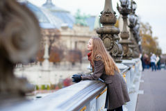 Romantic young woman with beautiful long hair royalty free stock photo