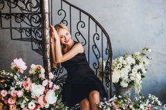 Romantic young woman portrait Royalty Free Stock Photo