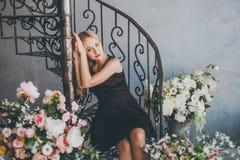 Romantic young woman portrait Stock Photo