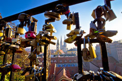 Romantic Zagreb chains and skyline view Stock Images