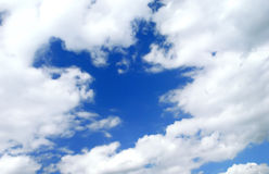 Romantice blue sky with clouds Royalty Free Stock Photo