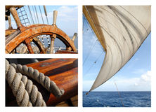 Romanticism under sails Stock Images