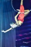 'Romantics' circus entertainment show , 21 February 2016 in Minsk, Belarus. Royalty Free Stock Photos