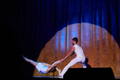 'Romantics' cyrkowy rozrywki przedstawienie, 21 2016 w Minsk Luty, Białoruś Obrazy Royalty Free