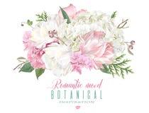 Romantiker blommar sammansättning Arkivfoto