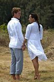 romantiker går Royaltyfria Foton