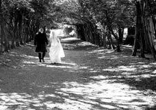 romantiker går arkivfoton