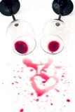 romantiker spilld wine Royaltyfria Foton