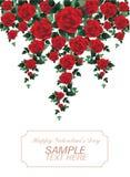 Romantiker steg för poly stil för valentindag lågt Royaltyfria Bilder