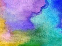 Romantique frais de nature de fond d'art d'aquarelle de ciel de lever de soleil coloré sensible de jour Photographie stock