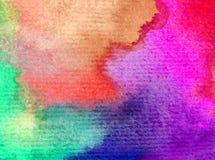 Romantique frais de nature de fond d'art d'aquarelle de ciel de lever de soleil coloré sensible de jour Photo libre de droits