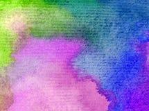 Romantique frais de nature de fond d'art d'aquarelle de jour d'arc-en-ciel coloré sensible de ciel Image stock