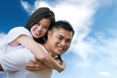 Romantisch Aziatisch paar Stock Foto's