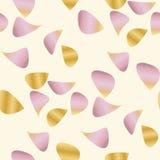 Romantisch bloemblaadje naadloos patroon in roze en gouden vector illustratie