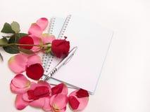 Romantisch bureau Stock Afbeelding