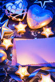Romantisch de kaartdocument van de Kerstmisgroet Royalty-vrije Stock Foto's