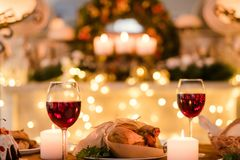 Romantisch de liefdevoedsel van de dinerdatum Stock Fotografie