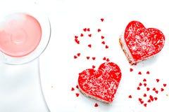 Romantisch dessert stock afbeelding