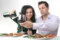 Romantisch diner Stock Afbeelding