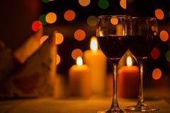 Romantisch diner in het restaurant royalty-vrije stock foto